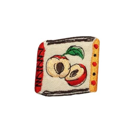Id 1226C Apple Badge Patch Fruit Emblem Craft Embroidered Iron On Applique