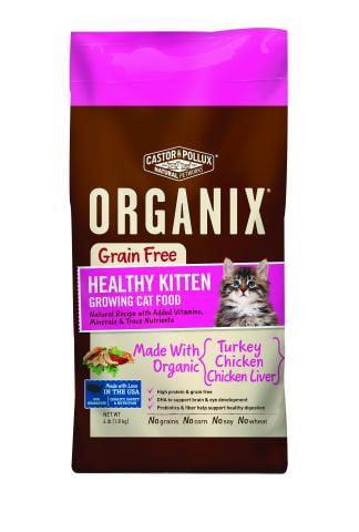 Castor Pollux Organix GrainFree Healthy Kitten Recipe Dry Cat