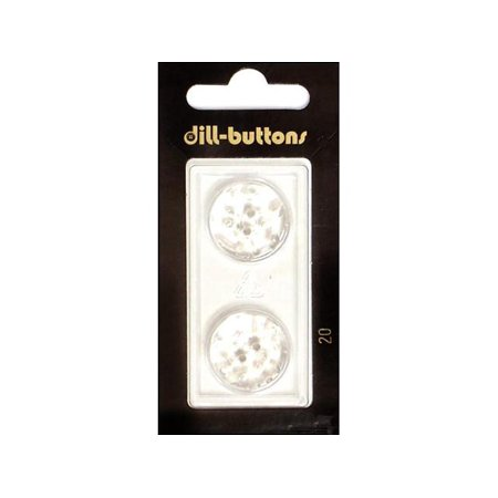 Jhb Buttons - Dill Buttons 20mm 2pc Shank Transp