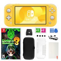 Nintendo Switch Lite in Yellow with Luigi's Mansion 3 and Accessories 11 in 1 Accessories Kit