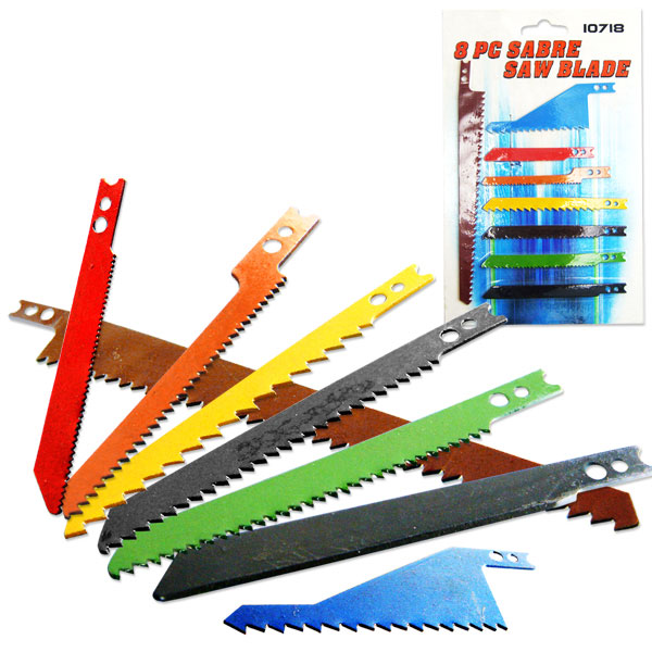 8 Pieces Jig Saw Blade Set Sabre Wood Cutting Tools by Hiltex