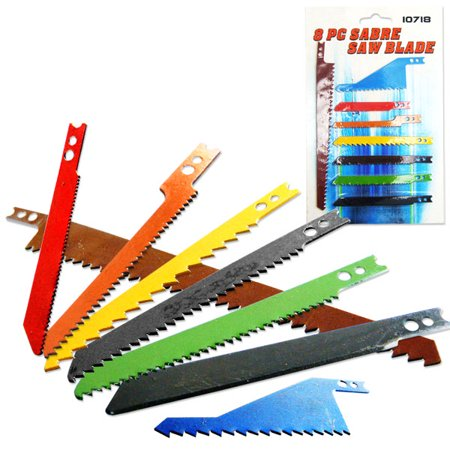 8 Pieces Jig Saw Blade Set Sabre Wood Cutting (Mahogany Blade Set)