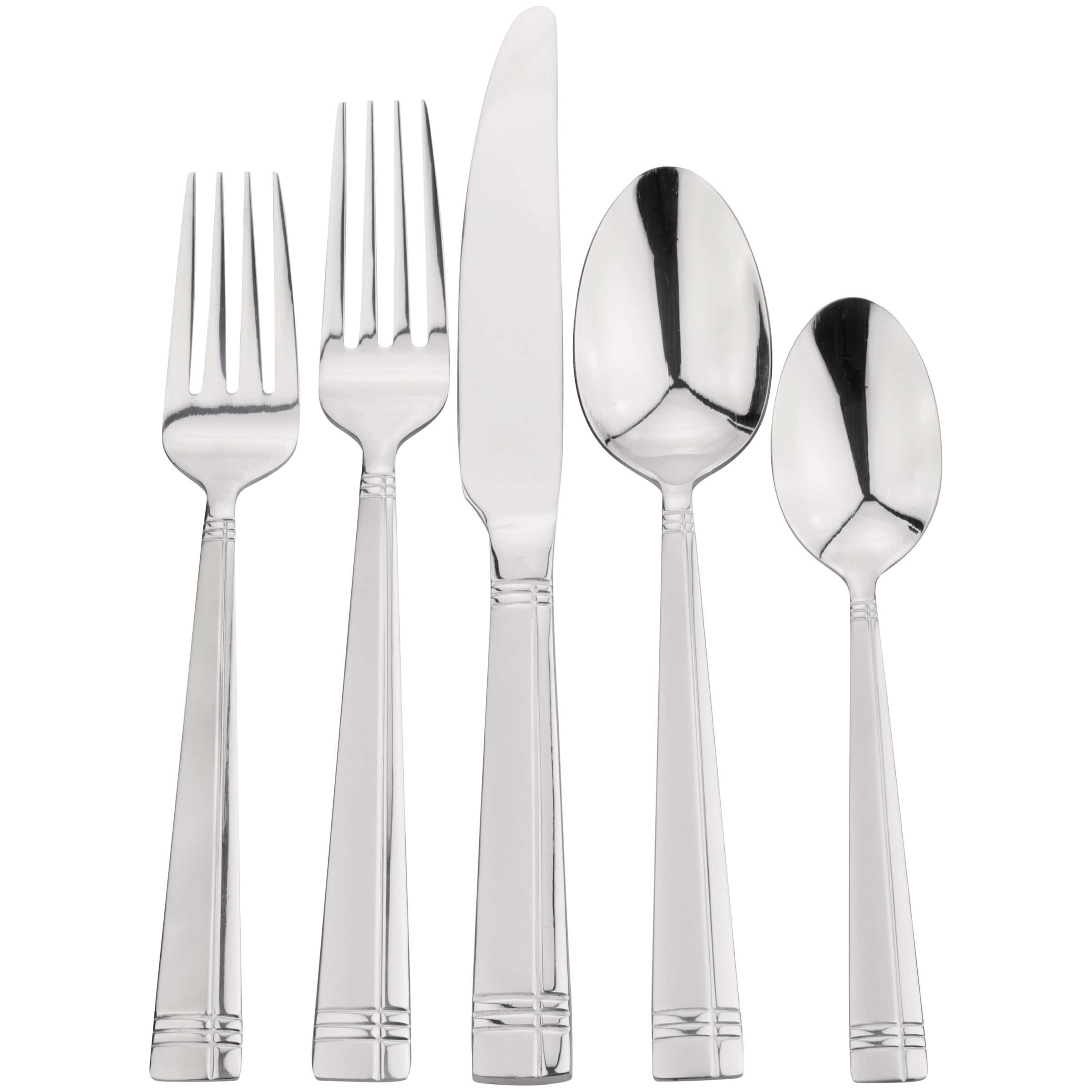 International Silver Dawson Frost 20-Piece Flatware Set