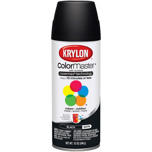 Krylon Colormaster Satin Black