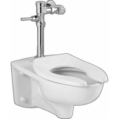 American Standard 2856.128.020 Commercial Afwall Millennium Toilet with Manual Flushing Valve Combo, White