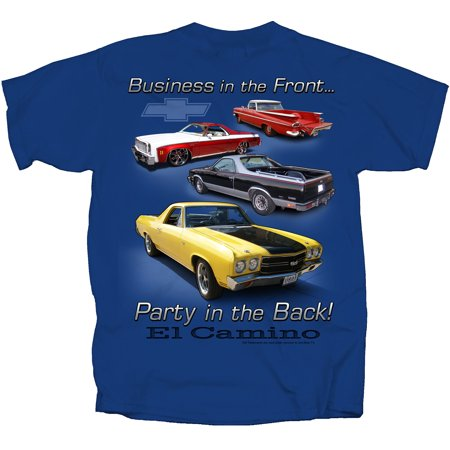 joe blow cvpib-u gm el camino party in back shrt slv adult t-shirt metro - Metro Moulded Top