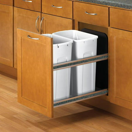- Soft-Close Under-Mount - Double 35 Qt 19-3/16