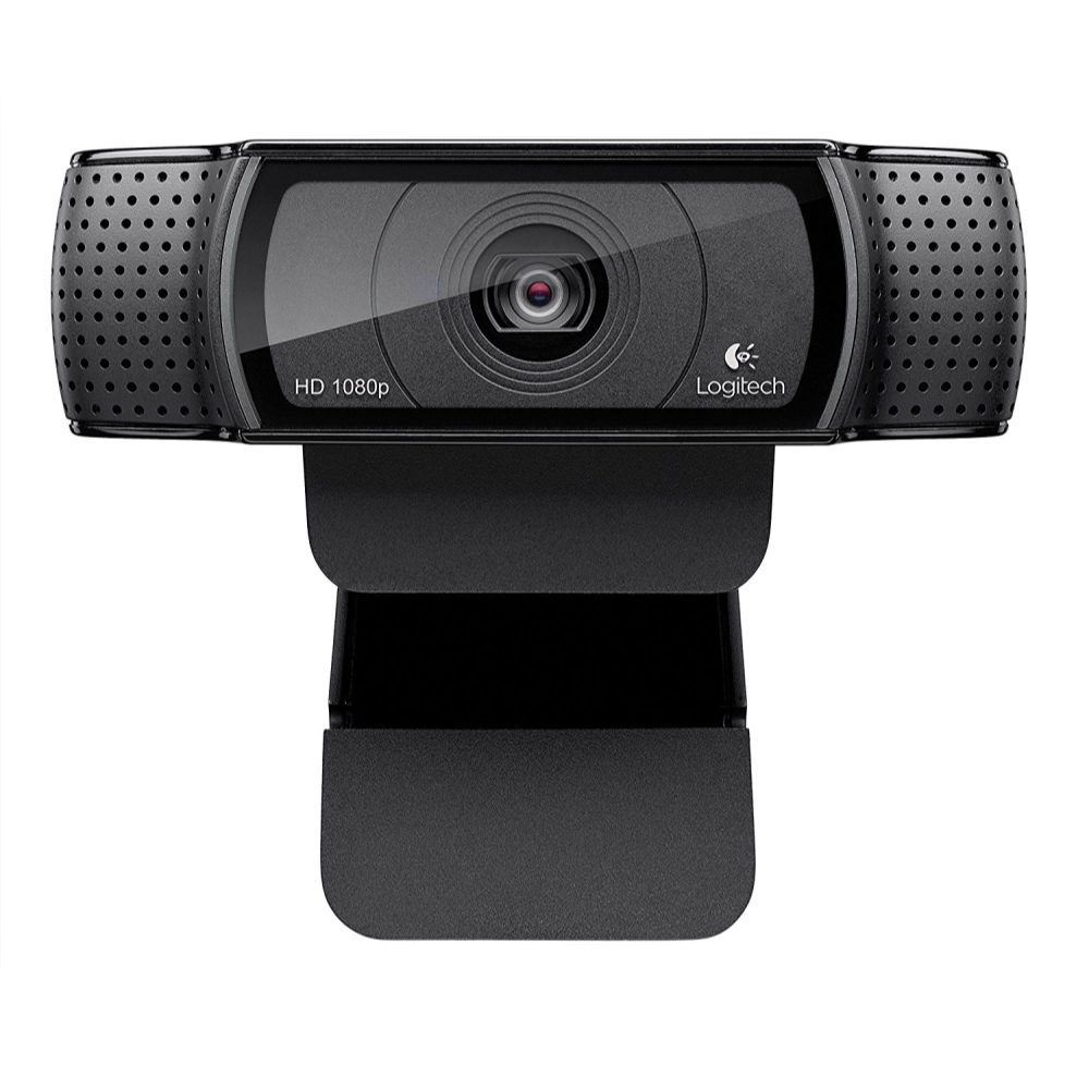 Logitech HD Pro Webcam C920, Widescreen Video Calling and Recording, 1080p Camera, Desktop or Laptop Webcam (Refurbished)