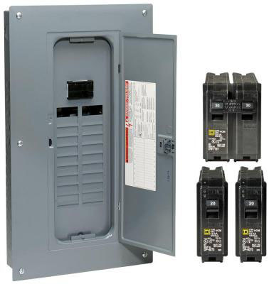 SQUARE D BY SCHNEIDER ELECTRIC 100A Main Load CTR Pack HOM2040M100PCVP