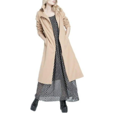 Winter Women Fashion Long Cardigan Coat Woolen Outerwear