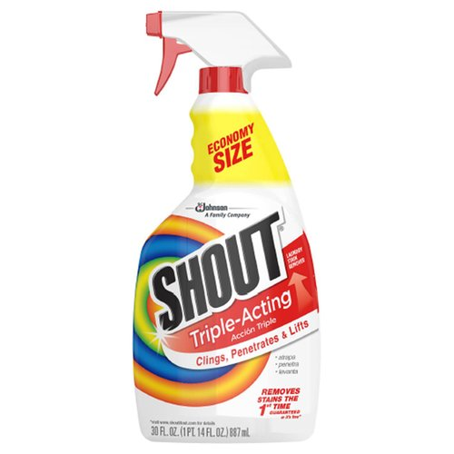 Shout Triple-Acting Laundry Stain Remover, 30 fl oz