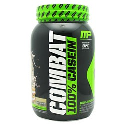 MusclePharm Combat 100% Casein Protein Powder, Cookies N' Cream, 28g Protein, 2 Lb