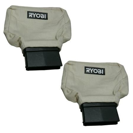 Ryobi P440 2 Pack of Genuine OEM Replacement Dust Bags # 204442001-2PK - image 1 de 1
