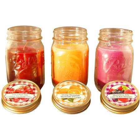LumaBase Scented Candles, Jams and Jelly, 12 oz, Set of 3 Candle 12 Oz 340g