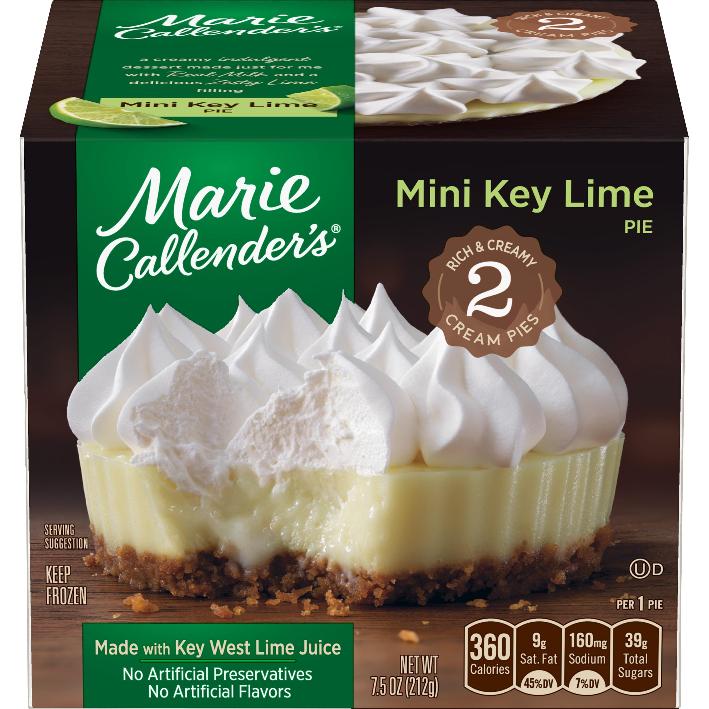 Marie Callender's Frozen Mini Pie Dessert, 2 Mini Key Lime Pies, 7.5 Ounce