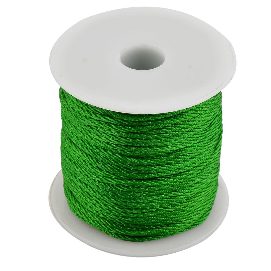 Household Nylon Handicraft Chinese Knot Bracelet Cord Thread Green 55 Yards