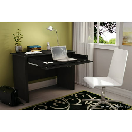 Bookcase Secretary Desk - South Shore Work ID Secretary Desk, Multiple Finishes