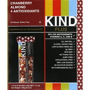 KIND Cranberry Almond + Antioxidants Fruit & Nut Bars, 1.4 oz, 4 count, (Pack of 12)