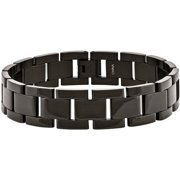 Stainless Steel Black IP-Plated Bracelet, 8.5