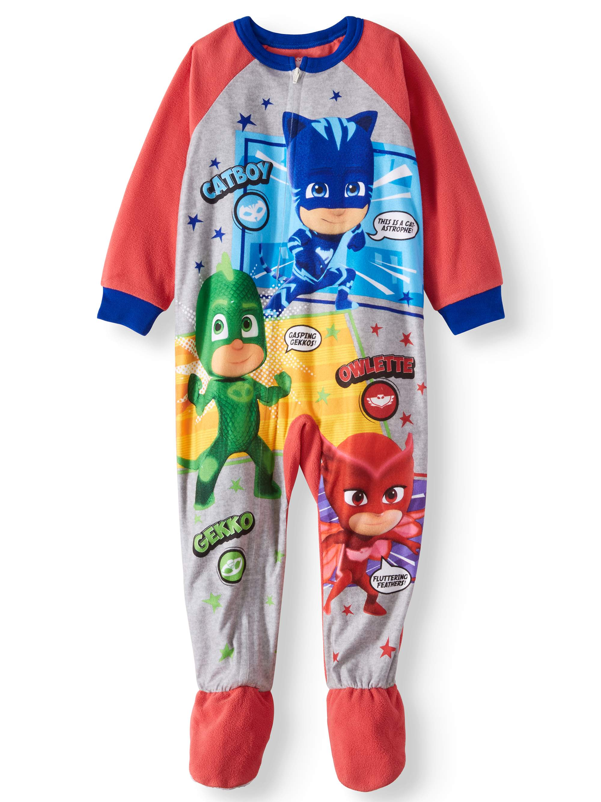 PJ Masks Toddler Boys  Microfleece Footed Blanket Sleeper – Walmart ... fe440b938