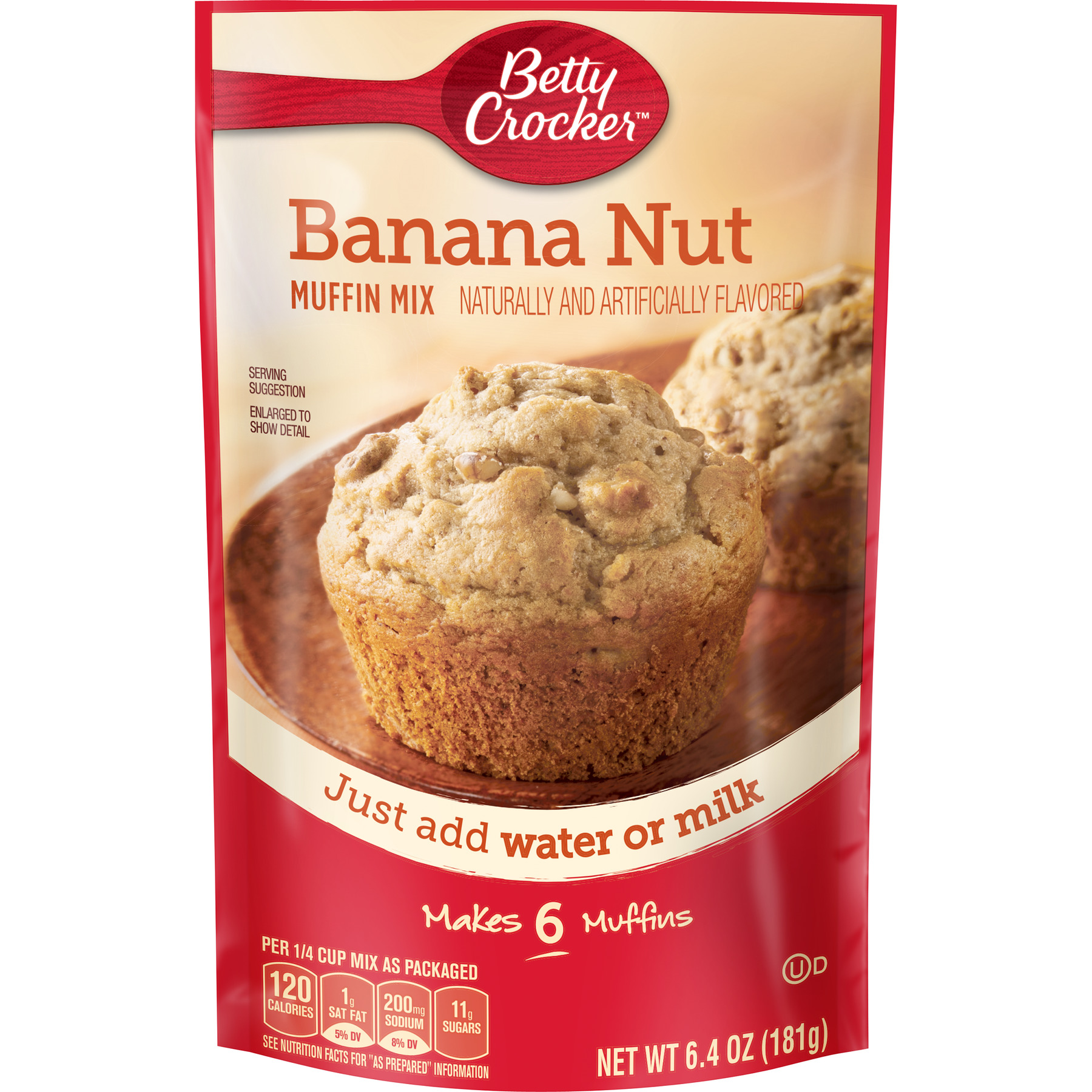 Betty Crocker Banana Nut Muffin Mix, 6.4 oz Box