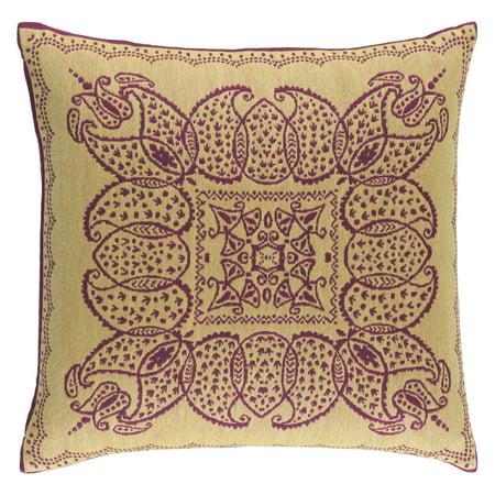 Surya Indira Beige And Pink Decorative Throw Pillow
