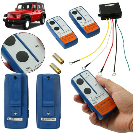 ESYNIC 12V Electric Wireless Winch Remote Control Switch Unit Kit for Truck ATV SUV Winch (Wireless Winch)