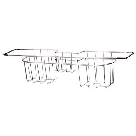 Homestyle Kitchen Classic Chrome Sink Rack Caddy, Hanging Sponge Holder and Storage Shelf for Kitchen Sink