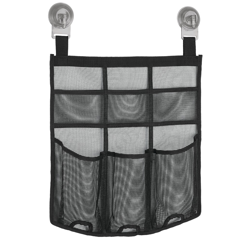 InterDesign Una Power Lock Suction Mesh Hanging Bathroom Shower Caddy for Shampoo,... by INTERDESIGN
