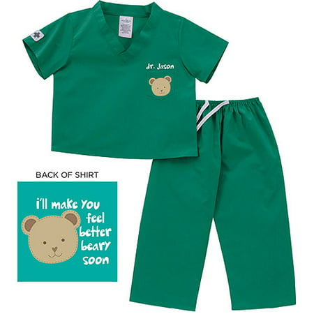 Personalized Toddler Bear Scrubs, Boys or -