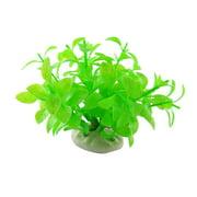 Unique Bargains Plastic Plants w Anchor Decor Ornament for Aquarium