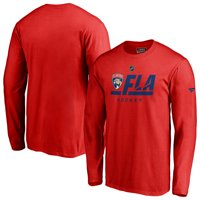 Florida Panthers Fanatics Branded Authentic Pro Tricode Long Sleeve T-Shirt - Red