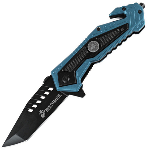 MTECH USA M-A1033BL Closed Spring Assisted Folder Knife, 4.75-Inch Multi-Colored