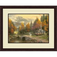 Thomas Kinkade,Valley of Peace, 20x16 Decorative Wall Art
