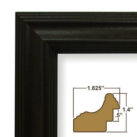 Craig Frames 262bk 24 By 34 Inch Picture Frame Wood Grain Finish 1 825 Wide Black