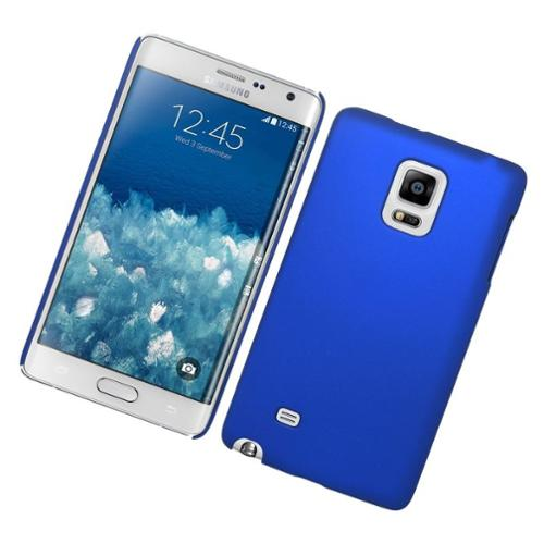 Insten Hard Rubber Snap On Plastic Back Case For Samsung Galaxy Note Edge - Blue