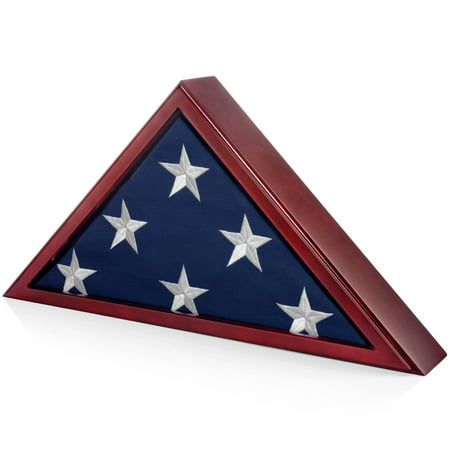 SmartChoice Honors Memorial Flag Display Case Burial Presentation Flags, American Foreign Military Service Commemoration, 5x9 Feet