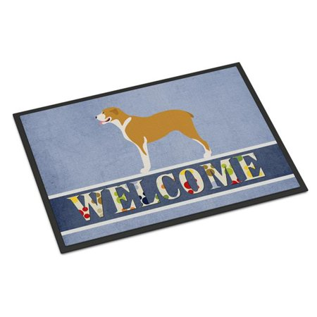 Carolines Treasures BB8327JMAT Belgium Mastiff Welcome Indoor or Outdoor Mat - 24 x 36 in. - image 1 of 1