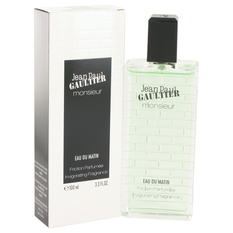 Jean Paul Gaultier Jean Paul Gaultier Monsieur Eau Du Matin Friction Parfumee Invigorating Fragrance for Men 3.3 oz