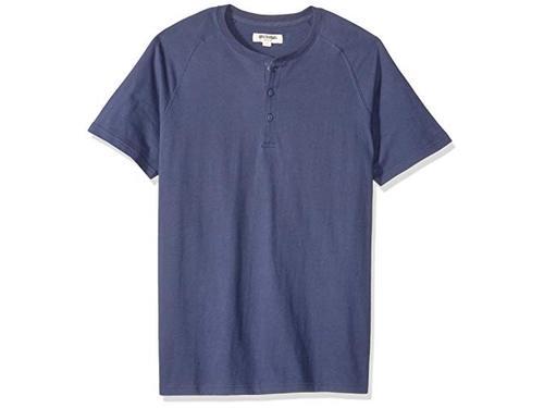 Brand Goodthreads Mens Short-Sleeve Sueded Jersey Henley