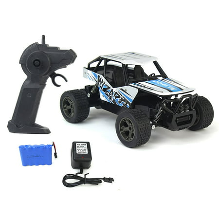 The King Cheetah Turbo Remote Control Toy Rally Buggy RC Car 2.4 GHz 1:18 Scale Size w/ Working Suspension, Spring Shock Absorbers
