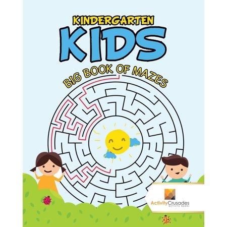 Halloween Maze For Kindergarten (Kindergarten Kids : Big Book of)
