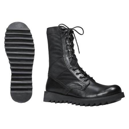 Rothco 5050 Black Jungle Boot with Wave or Ripple Sole for Comfort