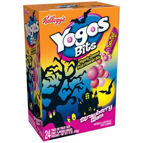 Kellogg's Yogos Bits Strawberry Slam Fruit Flavored Snacks, 12 oz ...