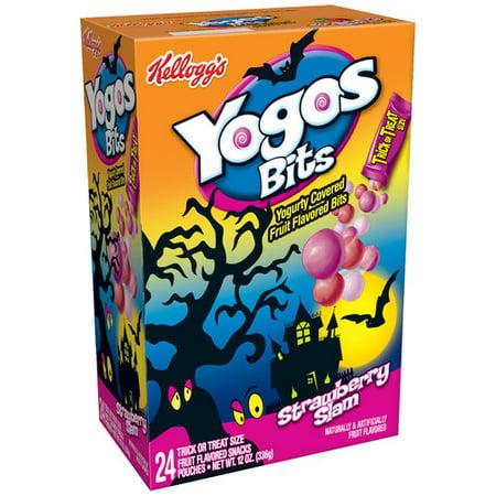 Kellogg S Yogos Bits Strawberry Slam Fruit Flavored Snacks