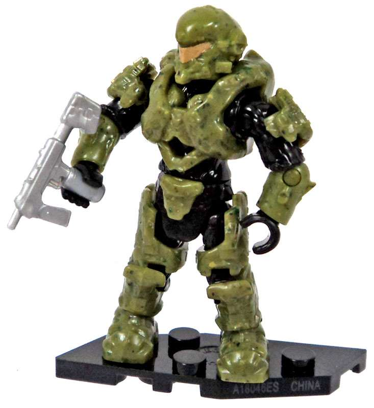 Mega Bloks Halo Foxtrot Series Green Copperhead Spartan Minifigure by
