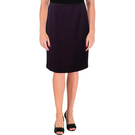 Le Suit Womens Petites Textured Office Pencil Skirt Purple 6P