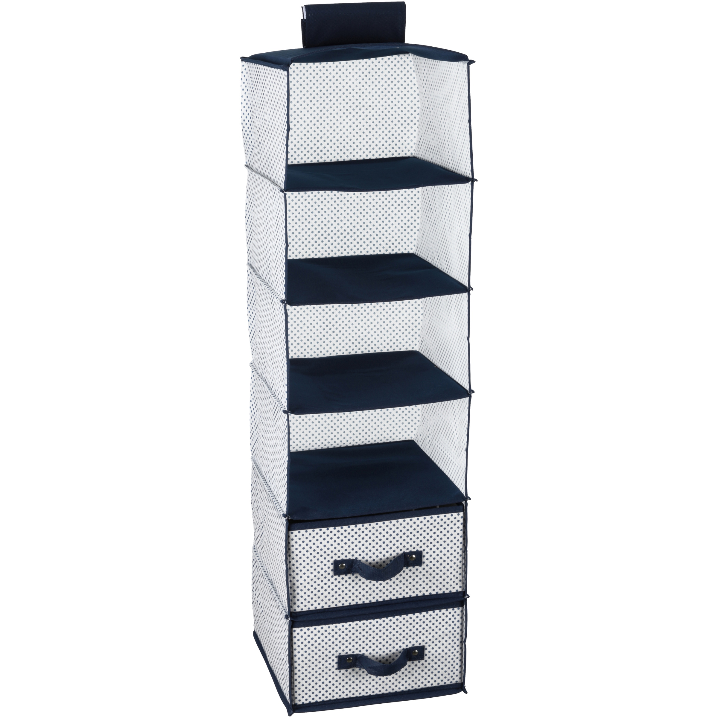 Delta Children 6-Shelf Hanging Storage Unit with 2 Drawers, Beige