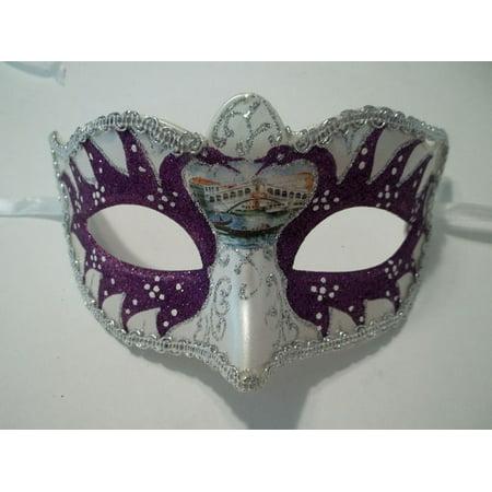 Purple Pearl Small Venetian Masquerade Mardi Gras Mask