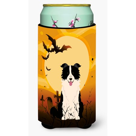 Halloween Border Collie Black White Tall Boy Beverage Insulator Hugger BB4384TBC